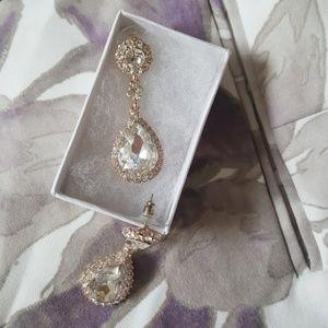 Sparkle! Formal teardrop earrings Prom Wedding Wow